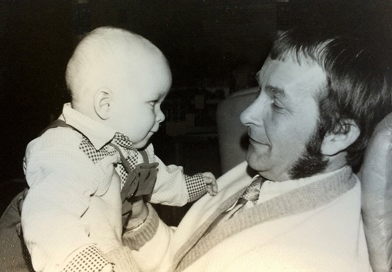 Olavi Pokka, the founder of our company, with his son Harri in seventies.